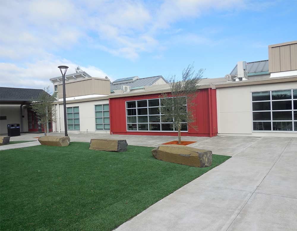 Healdsburg High School Redhawk Glass